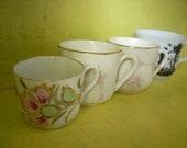 Set of 4- Vintage Tea Cups