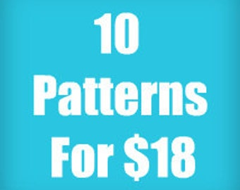Any 10 Knitting, Crochet or Sewing PDF Vintage Patterns For 18 Dollars