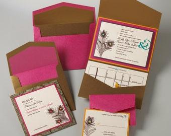 Wedding Invitations - Peacock Design