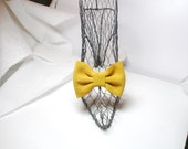 Shoe Clips  Yellow Bow   Suede Mustard  shoes accessories