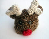 Crochet Reindeer Hat -- Baby and Toddler sizes