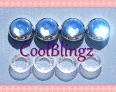 LIGHT BLUE Rhinestone Screw Caps Covers for Crystal Bling License Plate Frame