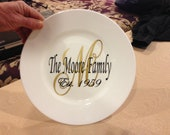 Personalized 11 inch plate