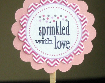 Sprinkled cupcake toppers