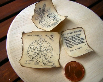 Scrolls, old documents 1zu12 miniature No. 1