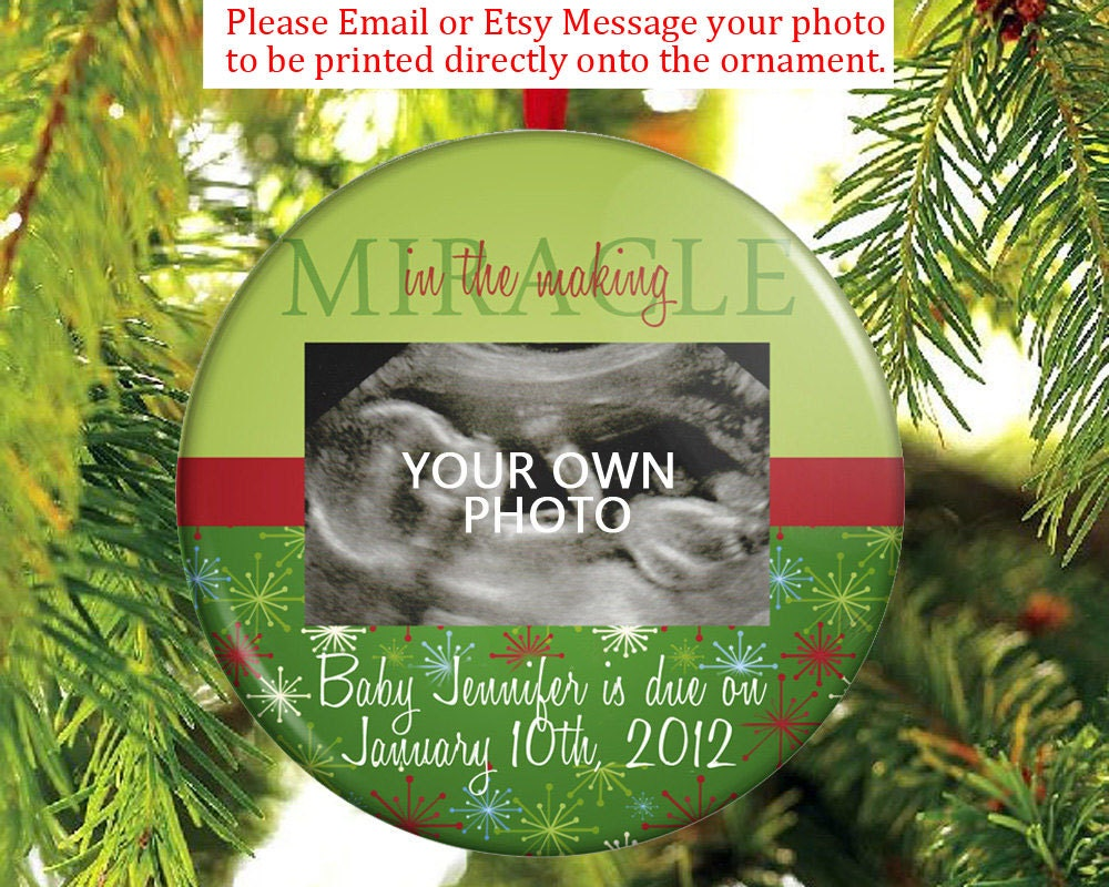 Christmas ornament expecting baby -  Expecting A Baby Christmas Ornament Pregnancy Announcement Ultrasound Ornament Sonogram Ornament Zoom