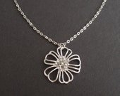 Wire flower Necklace - Bridesmaid,Wife, Girlfriend, Mothers Gift Idea
