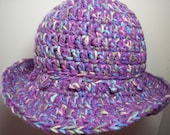 Adult Brim Crochet Hat