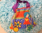 Little girls purse toddler handbag tote - Colorful Bag with Hanging Applique
