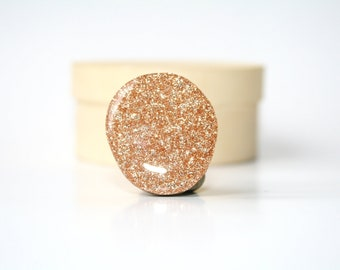 Champagne sparkle statement ring, statement jewelry, sparkle ring,  big ring Unique gifts  eco friendly