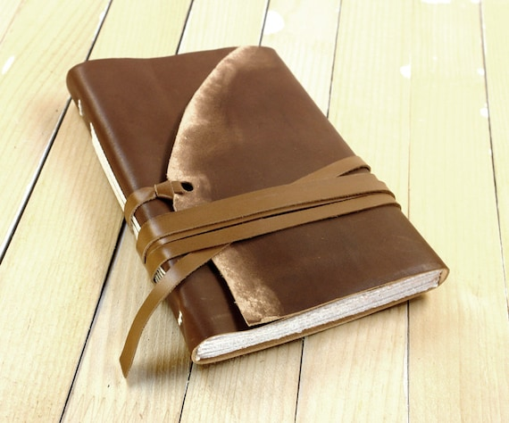 Journal - Handmade Leather Notebook - Vintage Beauty