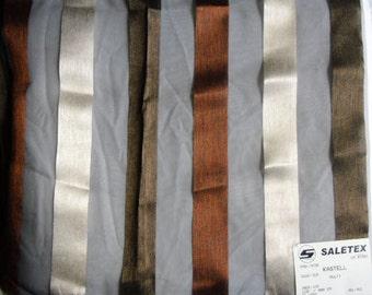 Designer Fabric Sample - Saletex Sheer Fabric, Pattern Kastell, Color Multi, Made in Spain
