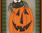 Cross Stitch Pattern Silly Spider No. 2 Whimsical Halloween Design Instant Download PdF