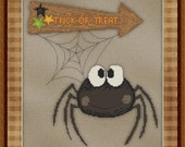 Cross Stitch Pattern Spilly Spider No. 3 Halloween Bugs Instant Download PdF