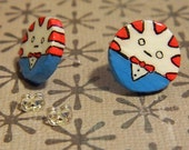Adventure Time Peppermint Butler Earrings