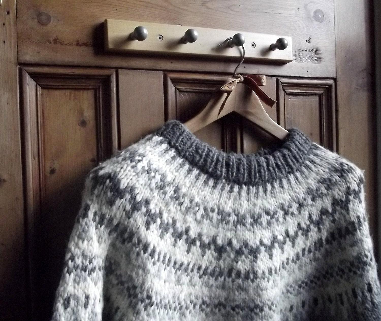 Womens Mens Nordic Icelandic Sweater Jumper Faie Isle