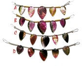 Water Melon Tourmaline Carving Leaf Beads Strands , Gorgeous Bi Colour Tourmaline carved Gemstone 1 bead line