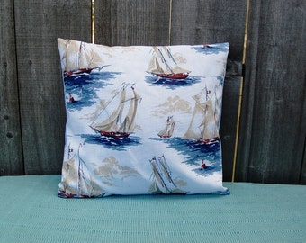 Sail boat Pillow Cover 18 x 18 Inch
