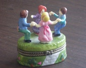 Vintage Childern Jewelry Box Trinket Box 1950s