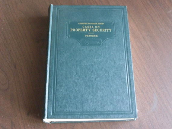 1940 Cases and Materials on Property Security Law Book