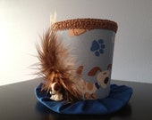 Puppy Dog Mini Top Hat.  Great for Birthday Parties, Tea Parties, Photo Prop and Much More...