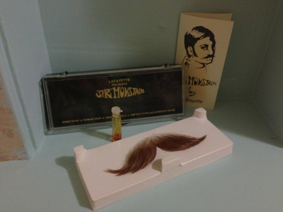 Vintage Sir Moustache, Mustache, Beard, Gag Gift, Etsy, Vintage Mens Accessories