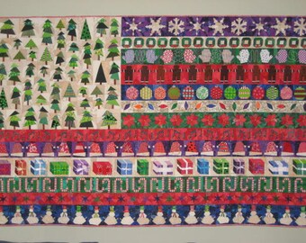 Christmas Flag wall quilt