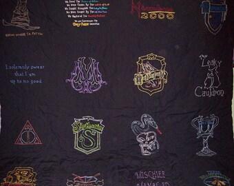 Inspired Harry Potter, CUSTOM, Lap Quilt