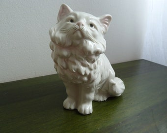 Vintage porcelain cat figure made in GDR