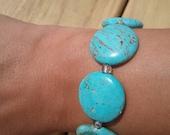 Turquoise Beaded Bracelet, Turquoise Bracelet, Beaded Bracelet