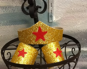 Set of 3 Wonder Woman Tiara, arm cuffs
