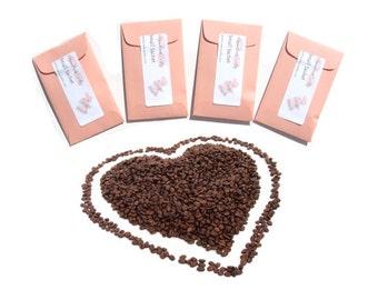 Scented Sachets Coffee Bridal Shower Favors Cafe Au Lait Crisp Seed Packet Favors Envelopes Pick Color Personalized Labels Useful Gift