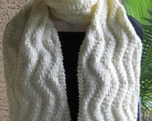 Cream cable scarf