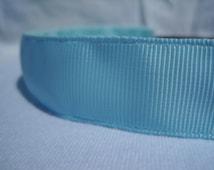 """No-Slip Headband Solid Light Blue Grosgrain 3/8"""", 5/8"""", or 7/8"""""""