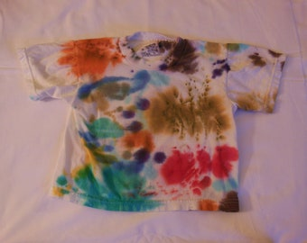Children hand dyed T-shirt, children clothing, dyed clothing, OOAK