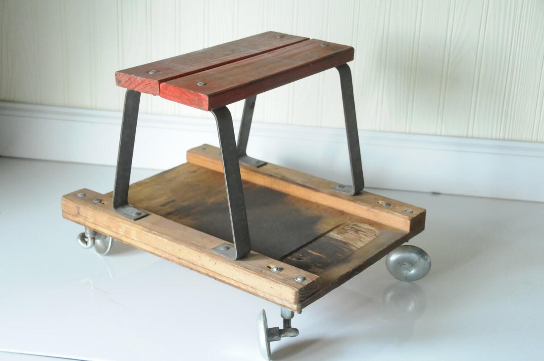 Mechanics Creeper Vintage Mechanics Creeper Stool Industrial
