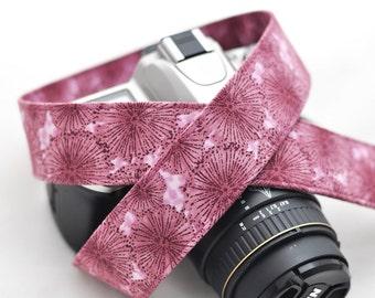 Camera dSLR Strap - Plum Dandelion - Purple Camera Strap - Canon, Nikon