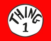 Thing 1 applique design 4x4 hoop size Cat in  the hat Dr.Seuss -- Ready to download--