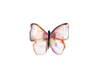 Watercolor Butterfly Print. 5 x 7 or 8.5 x 11.  Nursery Decor.  Nature Art.