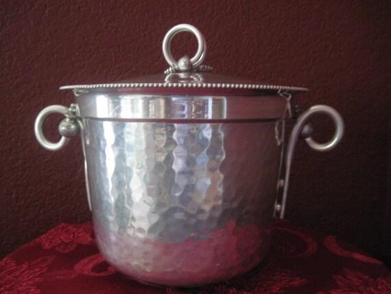 RESERVED FOR C-Vintage 1950's BW Buenilum Hammered Aluminum Ice Bucket