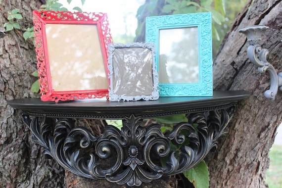 SALE Upcycled Home Decor Collection Shelf Sconces And