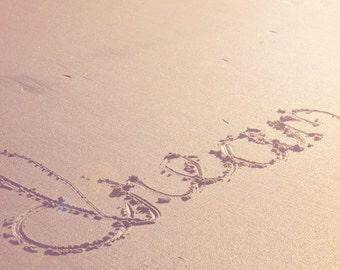 Beach Photography - Minimalist Photo - Beach Sand Photo - Fine Art Photography Print - Neutral Tan Home Decor