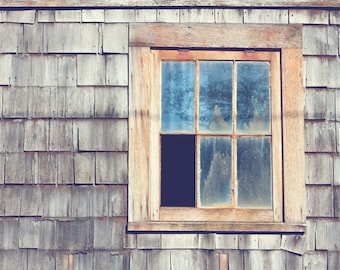 Architectural Details Photograph - Beach Cottage Decor - Weathered - Minimalist Photo - Rustic - Fine Art Photograph - Grey Blue Home Decor