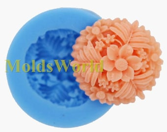 A363 Mini Flower Polymer Clay Silicone Mold Food Safe Silicon Mould For Crafts 27mm