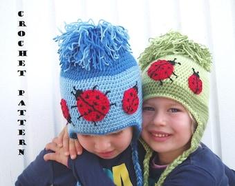 Childrens Ear Flap Hat Crochet Pattern PDF,Easy, Great for Beginners, Hat Crochet Pattern ,Pattern No. 26