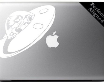 Spaceman Spiff Rocket Ship vinyl decal for Macbooks, Laptops, Cars, etc...