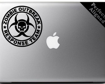 Zombie Outbreak Response Team decal for macbooks, cars, flamethrowers, etc...