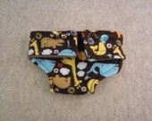 Adjustable Doll Diaper - Brown Animal Print - Size Large