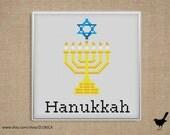 Cross stitch pattern: Hanukkah
