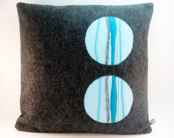Decorative Pillow Dark Gray Pillow Modern Pillow Felt Pillow